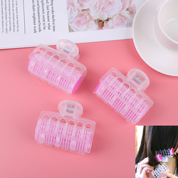3PCS/PACK hair curler Plastic Self Grip Hair Rollers Clips Cling DIY Pink Hair Curlers Styling Tool Salon Hairdressing Maker