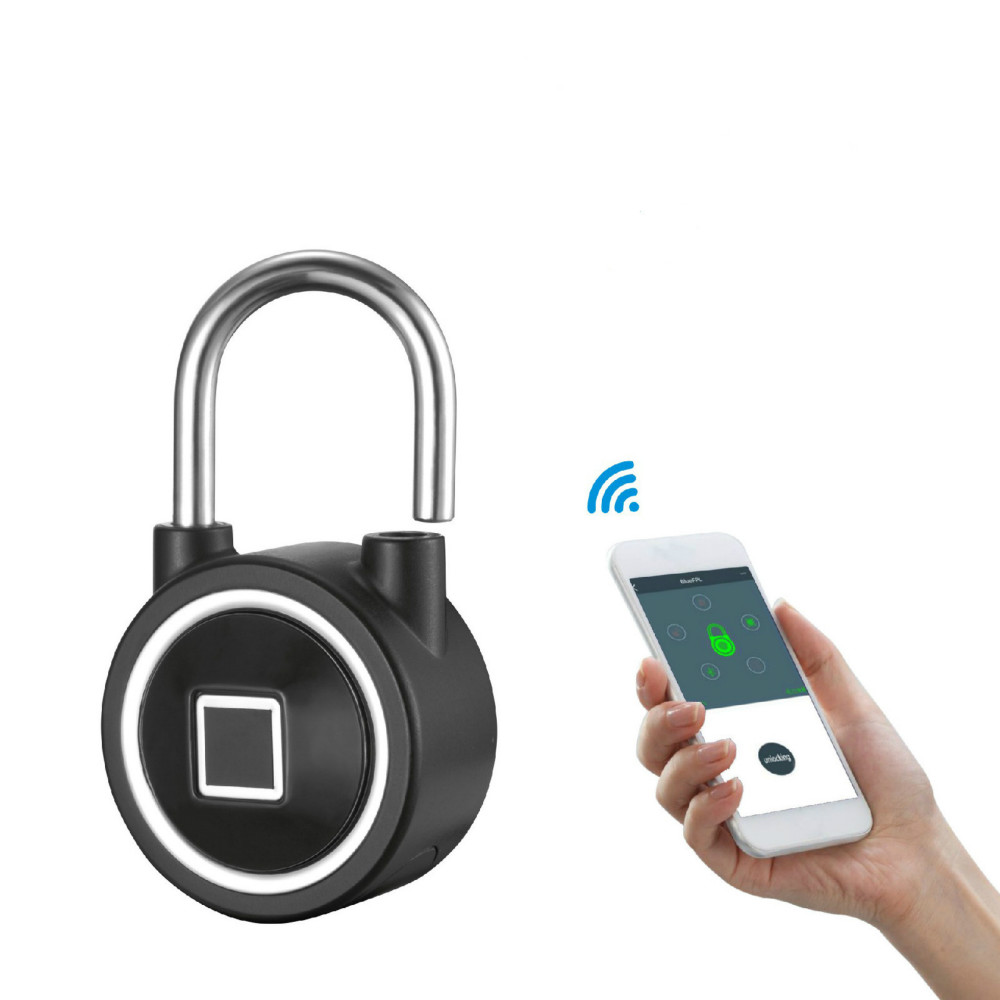 Electronic intelligent Bluetooth fingerprint password padlock home door APP remote management mobile phone unlockElectronic intelligent Bluetooth fingerprint password padlock home door APP remote management mobile phone unlock