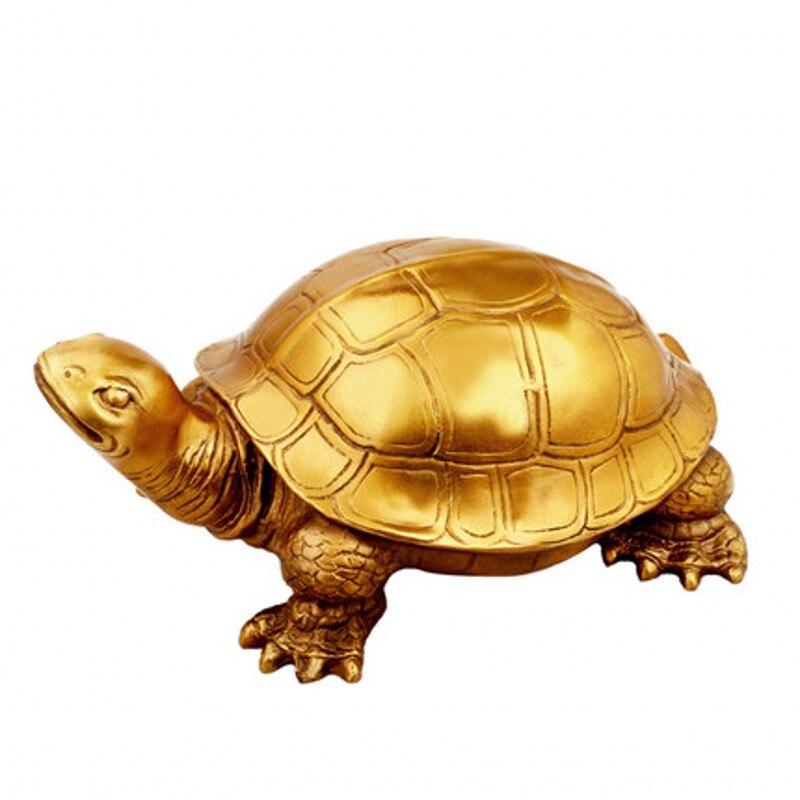 Pur cuivre tortue décoration chambre salon bureau cadeaux maison ornements