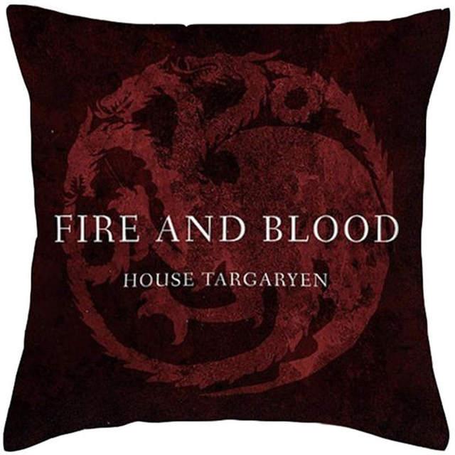 Game of Thrones Style Cushion 100% Polyester House Logo Cushion Home Decorative Throw Pillow Sofa Chair Car Cushions
