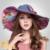 2016 Nuevo Colorido de la Playa Sombreros de Mujer Sombreros de Señora Summer Cap Sunhat Viajar Plegado de Ala Ancha Sombrero para el Sol UV Sombrero B-3205