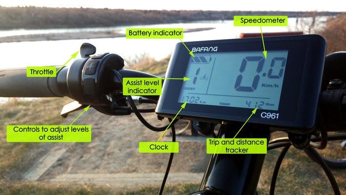 Ekran LCD me çmim të ulët C961 për 8FUN BAFANG pajisje - Çiklizmit - Foto 1