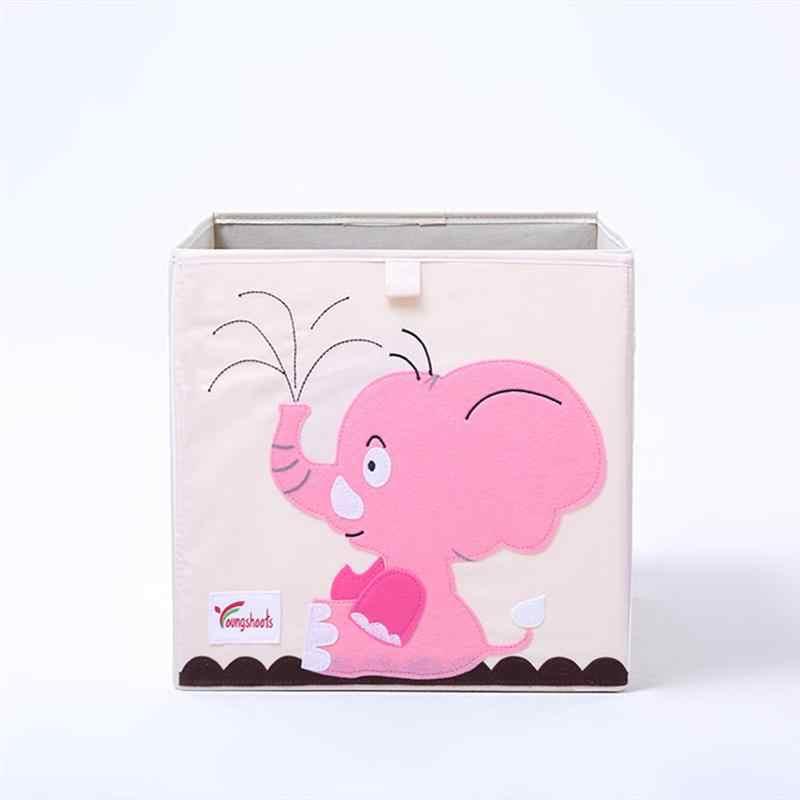 1 шт. складной моющийся ящик для хранения с рисунком из мультфильма, контейнер для хранения игрушек, ящики для хранения одежды для спальни, детской комнаты