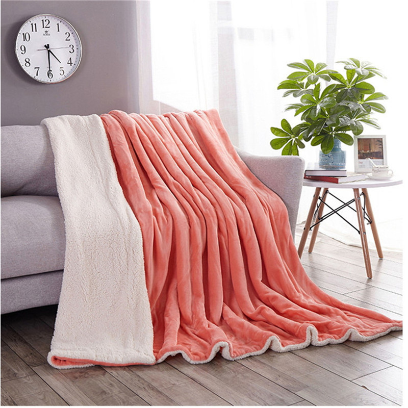 new 2018 Cashmere Blanket 200*230 Thick Blankets Double Coral Fleece Bed Sheet Sofa Throws Blanket Children Quilt Cobertor