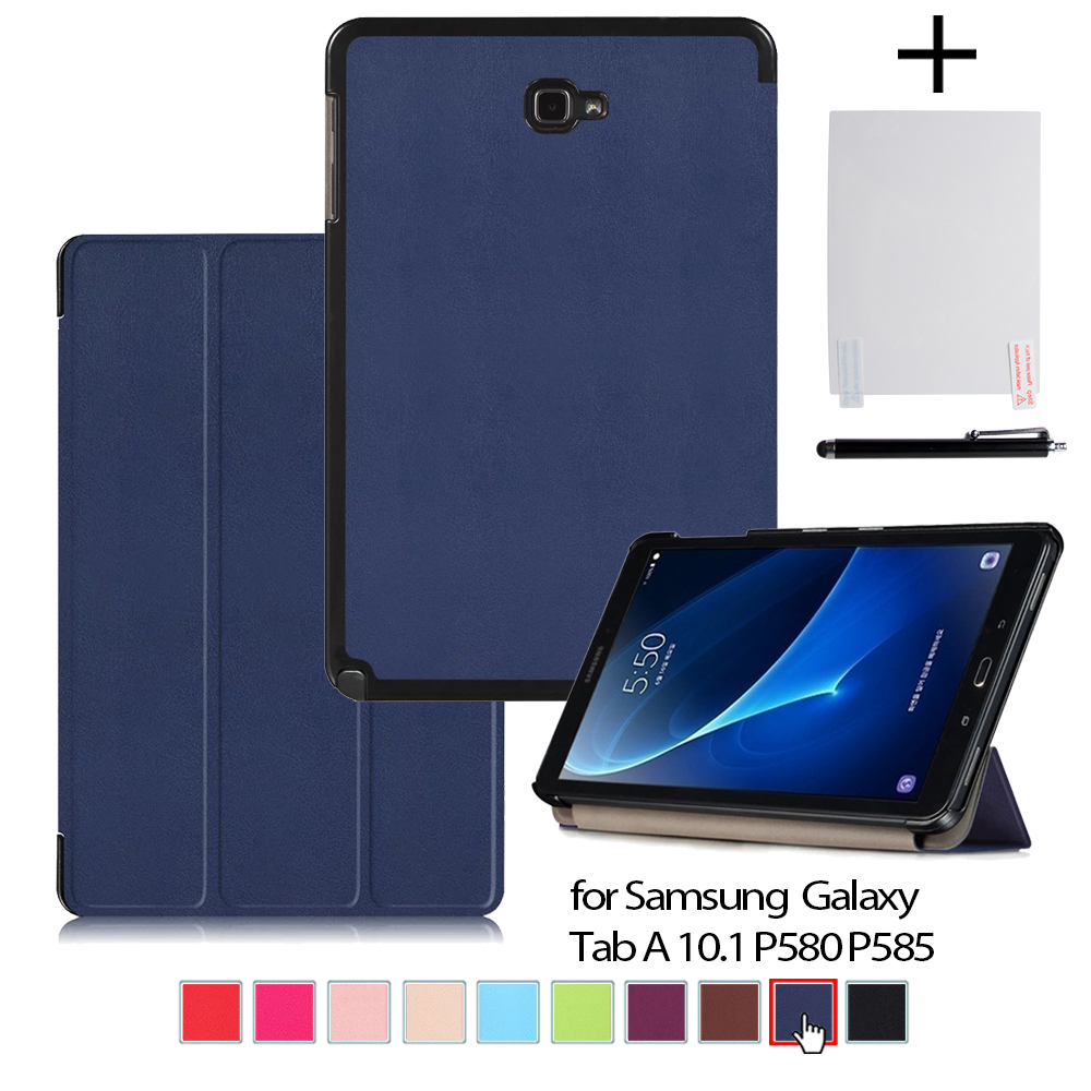 "Cover case for Samsung Galaxy Tab A A6 With S Pen 10.1"" P580 (NOT T580 )Tablet ultra slim magnetic stand cover case+gift"
