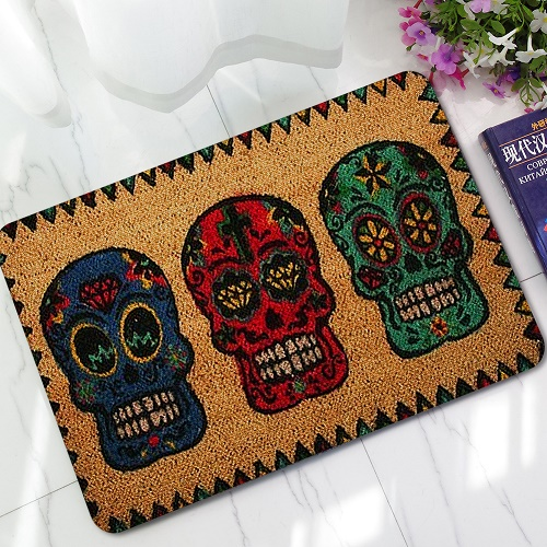new halloween doormats funny sign welcome skull head home decorative door mats magic welcome floor mats front porch rugs lyn19 - Halloween Rugs