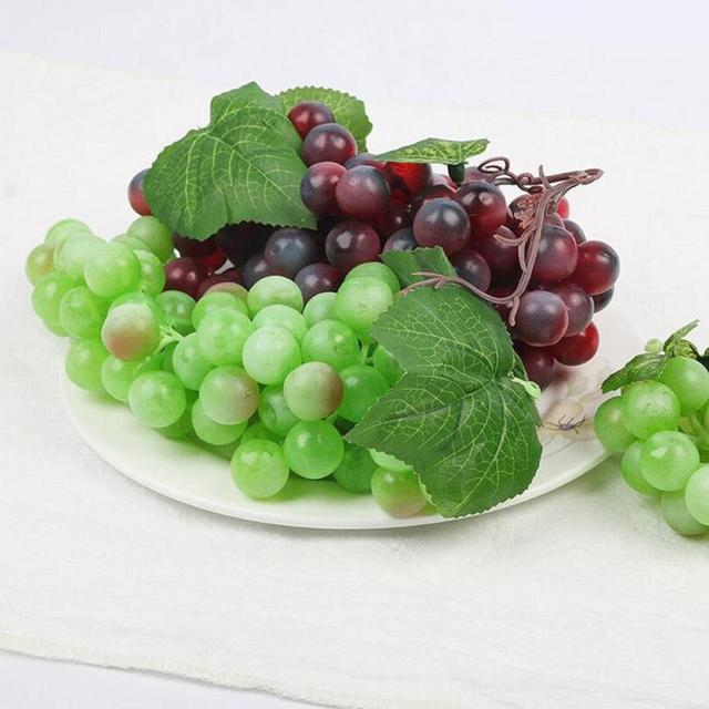 Artificial Fruit Kitchen DIY Decoration Green Grapes Decor For Home  Interior Plastic Grape String Ornament Props