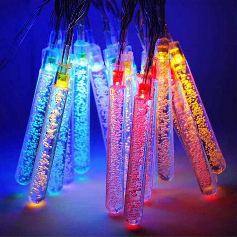 20LED Solar Meteor Shower Outdoor Rain <font><b>Tube</b></font> Lamp String Fairy Light Decor outdoor lighting landscape string lights wedding