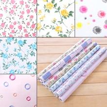 Rainqueen 2M Vinyl Self Adhesive Floral Wall Stickers Kitchen Waterproof DIY Decor Wall Paper Cupboard Wardrobe