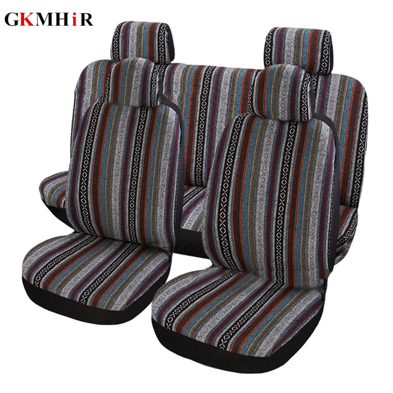 9pcs Set Car Seat Covers Full Set Automobile Seat Protection Cover Universal Vehicle Seat Covers Car Accessories Car Styling in Automobiles Seat Covers from Automobiles Motorcycles