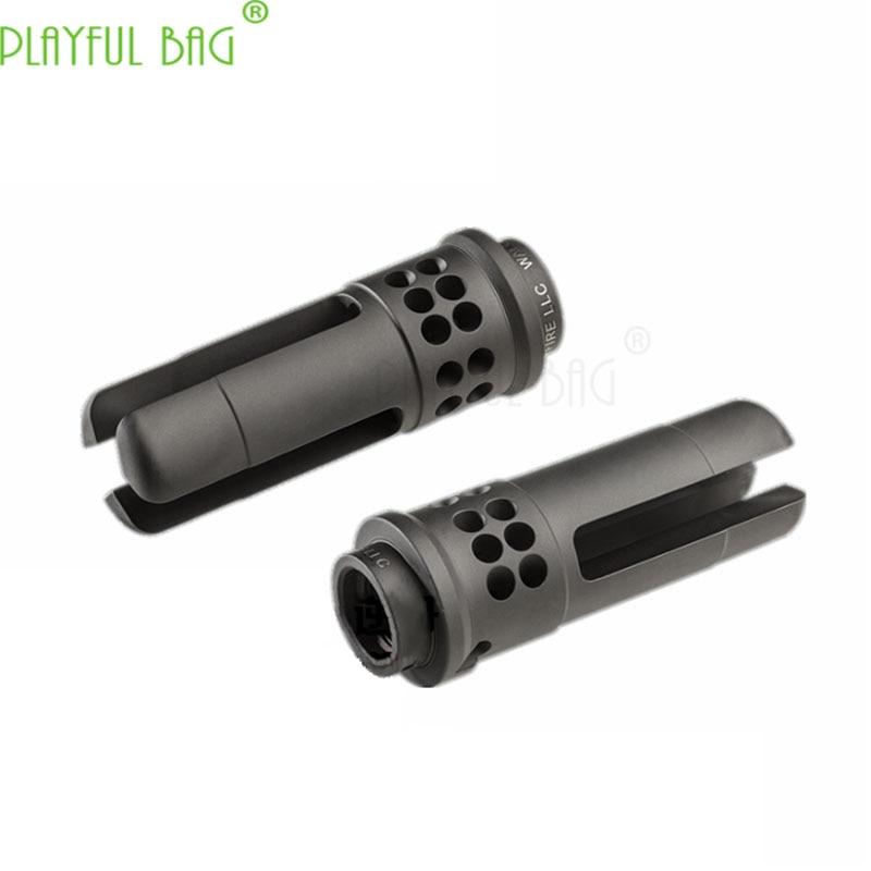 Outdoor Activity CS Jinming 9 Generation Toy Water Bullet Gun 14mm Reverse Tooth 556 Muffler Decoration Front Tube SOCOM MI80