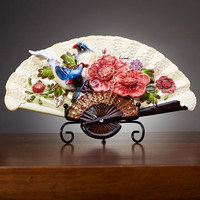 Ceative couple birdsr china porcelain decorative flat plate for hanging ceramic relief hand painted plate wedding decor