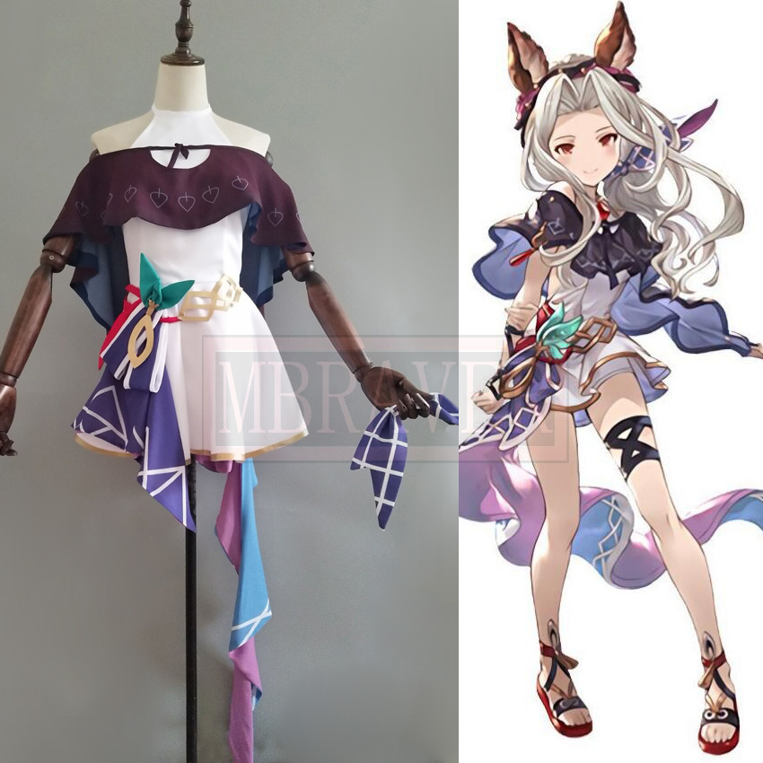 Game Granblue Fantasy Protagonist GRAN Cosplay Costume Full Sets Free Shipping