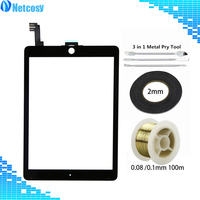 For ipad Air 2 Touch Screen Digitizer panel Repair For ipad Air2 A1567 A1566 9.7 & 2mm Tape & Gold Molybden Wire & Pry Tools