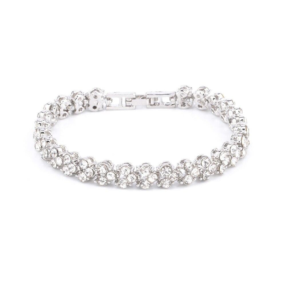 4380523840_873398036 - DIEZI Exquis Luxe, Bracelet En Cristal Romain, Rose Or Argent Couleur ,