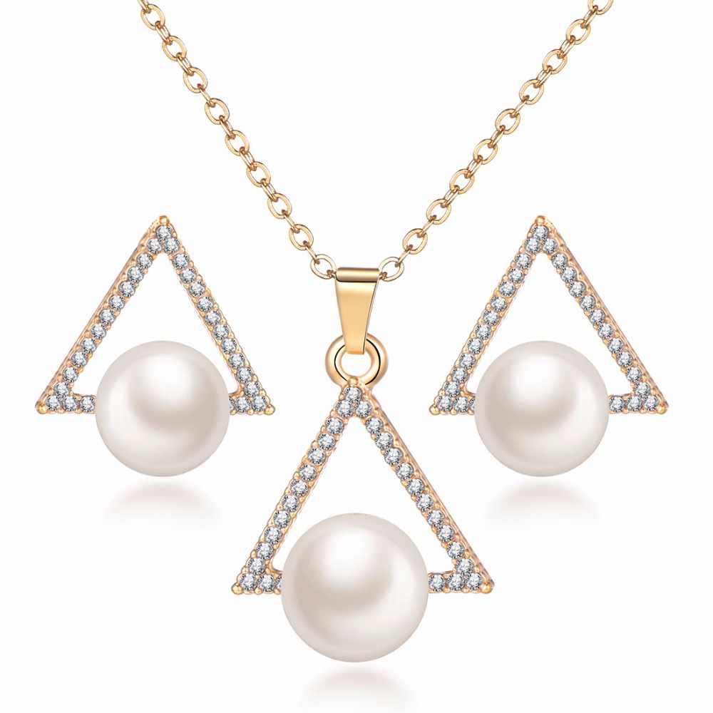 Подвеска в виде цветка для подружки невесты, розовое золото, нержавеющая сталь, ожерелье с подвеской в виде сердца высокого качества, ожерелье и серьги для женщин