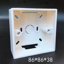 10pcs 86 Type Flame Retardant Junction Boxes PVC Wiring Bottom Box Universal Push Button Switch Outlet