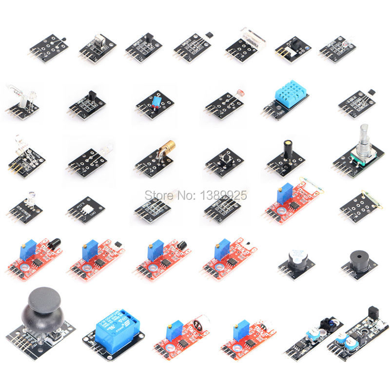 37 IN 1 SENSOR KITS FOR ARDUINO HIGH-QUALITY FREE SHIPPING (Works with Official for Arduino Boards) 5