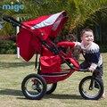 Mige metros bebê jogger carrinho de bebê bicicleta de alta paisagem carrinho de criança de carro do bebê pode se sentar ou deitar veículo off-road Carrinho De corrida