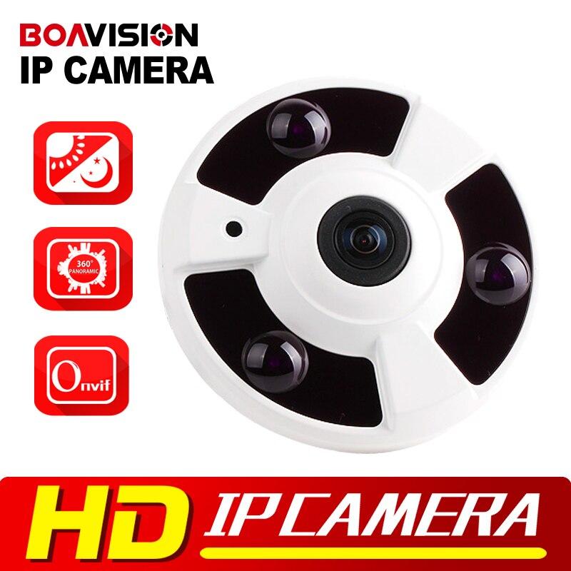 ФОТО 720P 1080P IP Camera (POE) Onvif Fisheye Panorama 5MP Lens IR Night Vision HD Security CCTV Camera 2MP 360 Degree View P2P XMEye