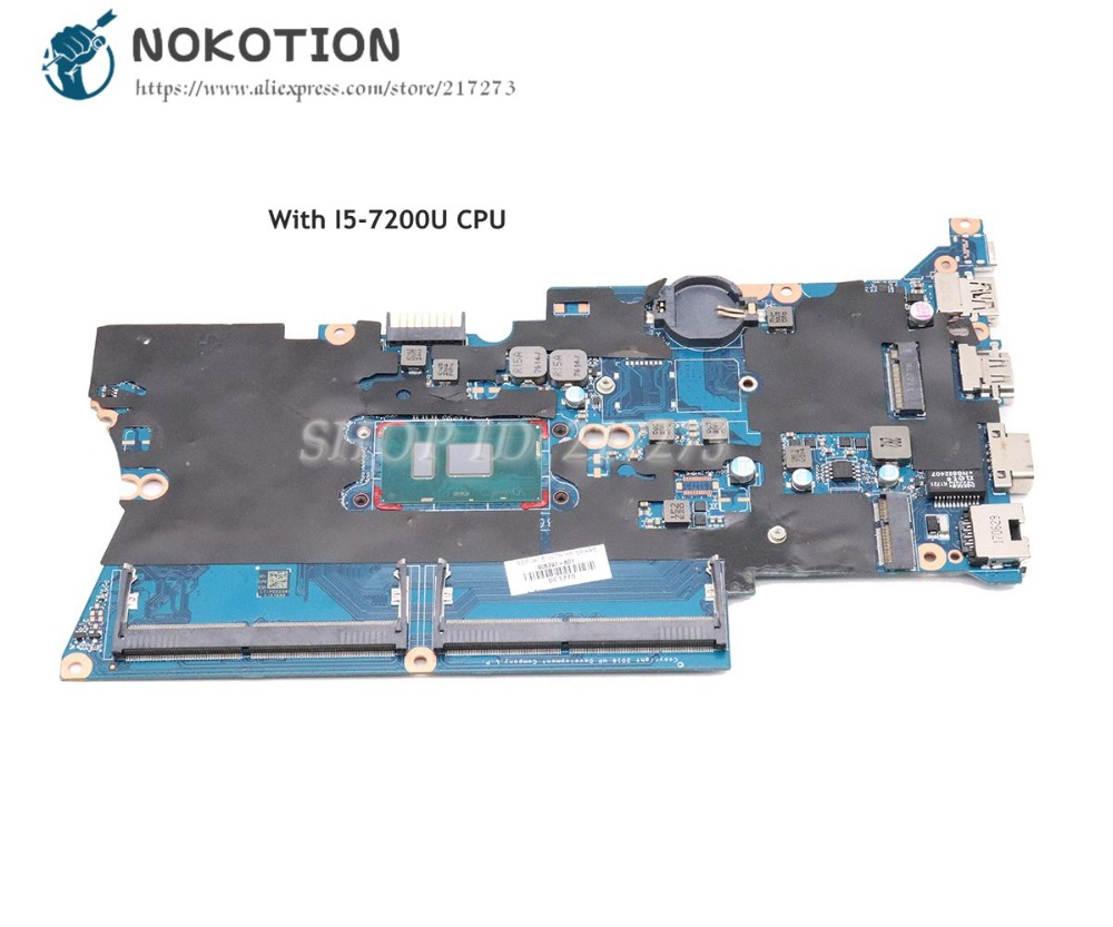 NOKOTION For HP Probook 440 G4 Laptop Motherboard14 inch I5 7200U CPU DDR4 DA0X81MB6E0 905794 601