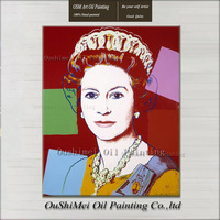 Queen Elizabeth Portrait Painting Handmade Oil Painting Modern Abstract The Queen of UK Canvas Paintings Wall Decor Hang Picture