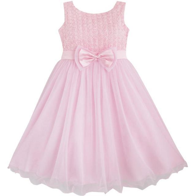 a2cf302f1078 Girls Dress Rose Flower Pink Wedding Bridesmaid Child Clothes 2018 ...