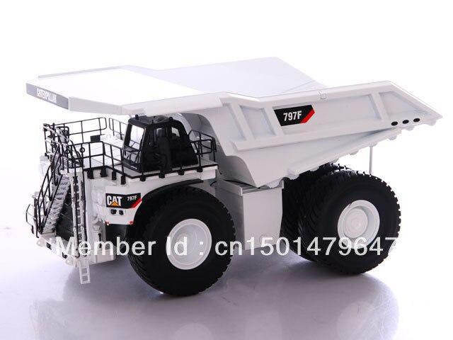 Norscot 1/50 CAT Caterpillar 797F Dumper Perlombongan Perlombongan - White Special 55243 Pembinaan kenderaan mainan