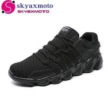 News 2017 Hot Sales Casual Shoes For Men Fashion Light Breathable cheap Lace-up Male Shoes Light Black White Plus Size 39-46