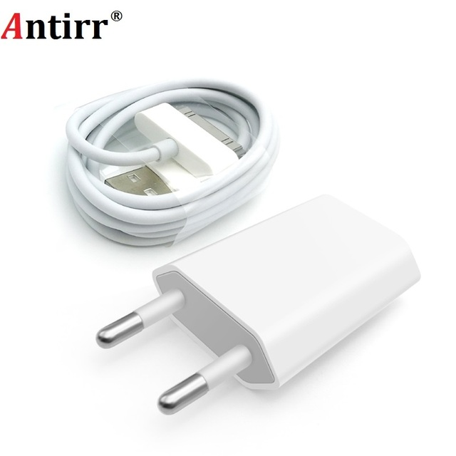 Antirr iphone 4 用ケーブル 30 ピン充電ケーブル & 5V 1A AC トラベル壁の電源充電アダプタ iphone 4 4s iPad 2 3