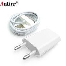 Antirr para iphone 4 Cable cargador de 30 pines y 5V 1A AC toma de corriente de pared de viaje adaptador de cargador para iphone 4 4s iPad 2 3