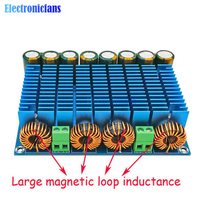 Image 3 - وحدة مكبر صوت رقمي عالي الطاقة 24 فولت تيار متردد استريو TDA8954TH ثنائي الشريحة 2x420W XH M252 لوحة مكبر صوت رقمي