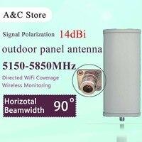 5 8G 14dBi 90 Degree Wifi Antenna Single Polarization Panel Antenna High Gain For AP Sector