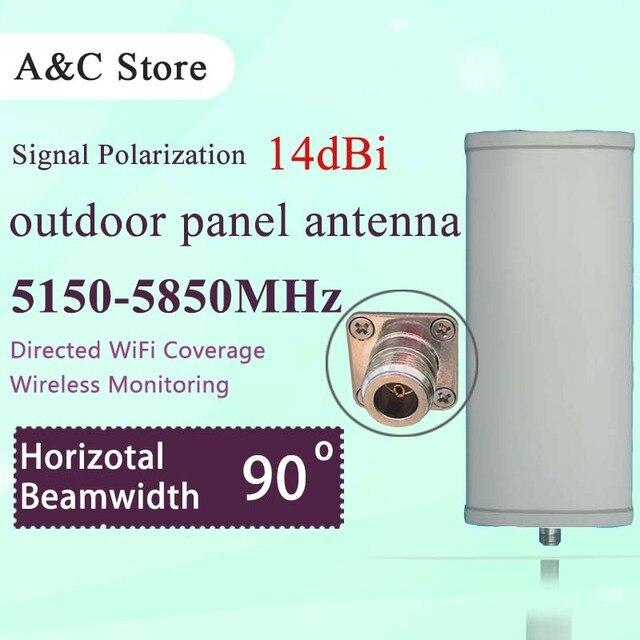 5.8g wifi antenna 14dBi 90degree single polarization panel antenna high gain for AP sector wireless network signal coverage