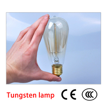 Halogen Bulbs Tubes retro vintage edison bulb e27 40w 220v ampoule lamp filament Incandescent light led