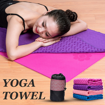 High Quality Towel Yoga Mat With Bag Non Slip Cover Gym Blanket Workout Sport Fitness Exercise Pilates Anti Skid Free - discount item  45% OFF Sportswear & Accessories