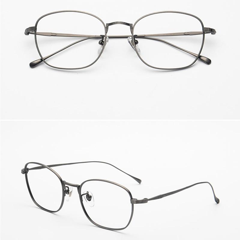 7181ac2c61 QIANJING 100% Pure Titanium Full Frame Lightweight Eyeglasses Prescription  Glasses Decorative Frame Popular For Men Women 3610-in Eyewear Frames from  ...
