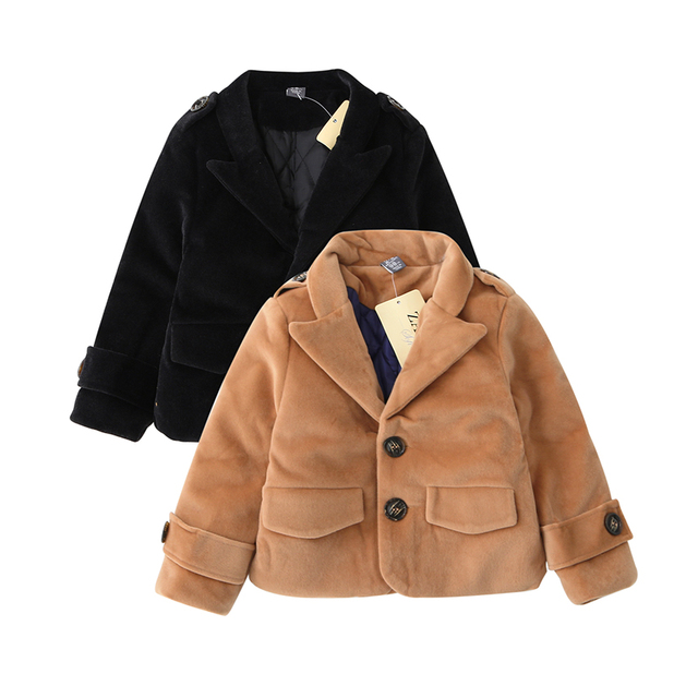2016 Autumn Winter Baby Girls Fashion Turn-down Clothing Woolen Solid Coat Button Casual Kids Outerwear Children Blends 5pcs/LOT