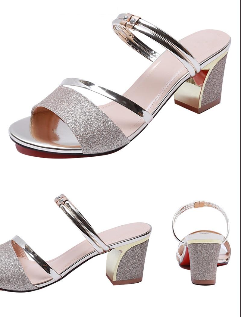 HTB1nmeladfvK1RjSszhq6AcGFXad High Heel Sandals Women Shoes Peep toe Square Heels Ladies Sandals 2019 Summer Shoes Woman Fashion Heel 6cm A645