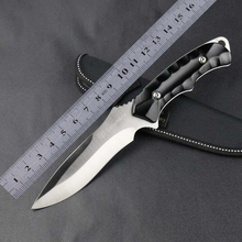 Jeslon K603 Hunting Straight Knife Tactical EDC Gear Swiss Fixed Blade Knives Fishing Hiking Climbing Knife Outdoor Rescue Tools
