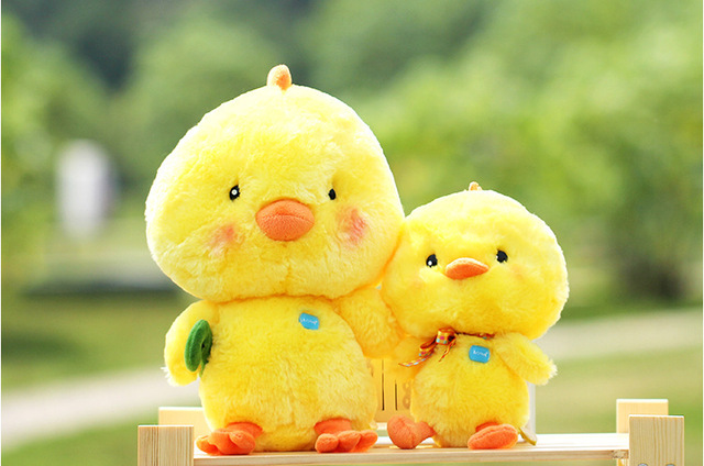 20cm Genuine Doll Cute Chick Doll Small Yellow Chicken Couple