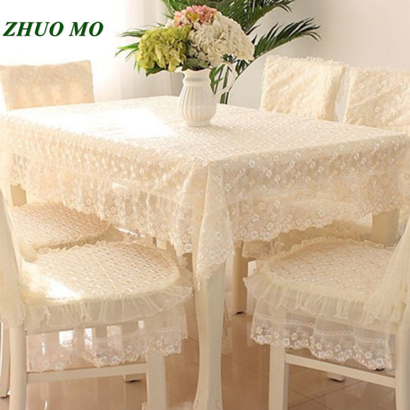 Aliexpress.com : Buy Lace edge Pink grey table cloth and ...