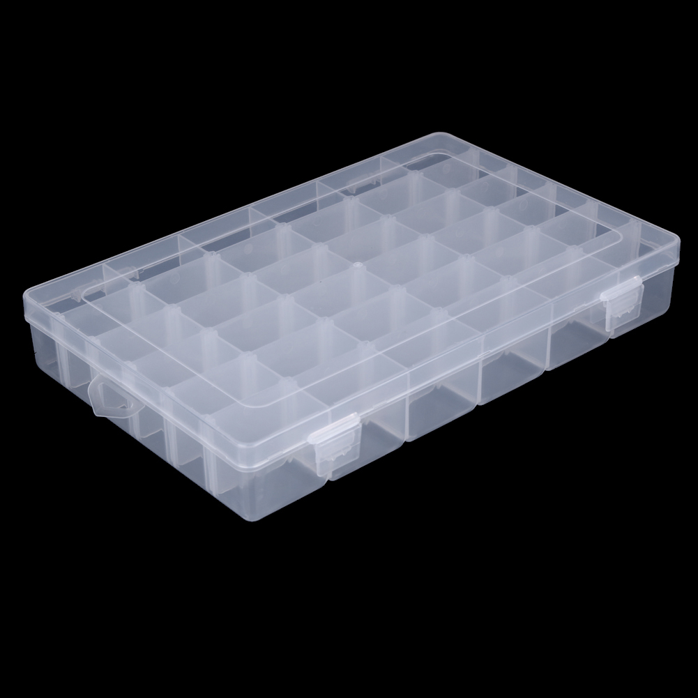 36 Grids Plastic Box Adjustable Compartment Jewelry Women Portable Earring Ring Case Home Medical Candy Organizer Boxes Dropship
