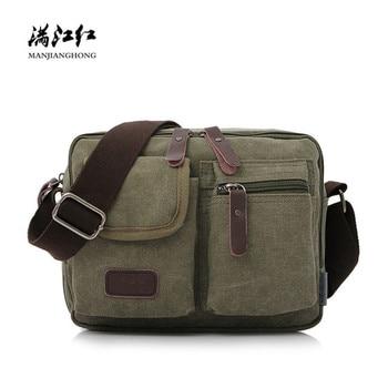 b681be1f2a9f Модная Холщовая Сумка через плечо для мужчин, маленькая винтажная сумка на  молнии, сумка через плечо для мальчиков, Повседневная сумка чере.