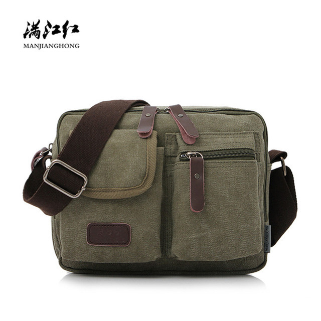 Fashion Canvas Crossbody Bag For Men Small Vintage Zipper Shoulder Messenger Bag For Boys Casual Crossbody Satchel Bag Men 1134