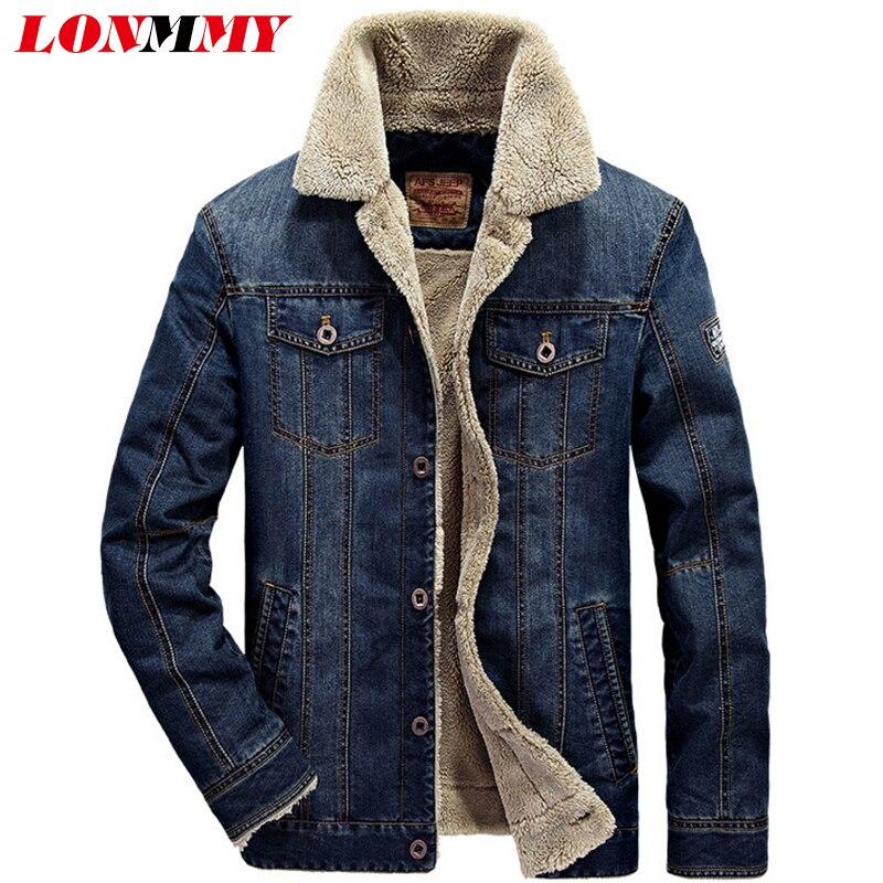 LONMMY M-4XL 2018 Winter Jeans Jacke Herren Mantel Jeans Herren Jacke - Herrenbekleidung - Foto 1