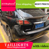 AUTO.PRO 2012 2015 For Lexus RX270 LED rear lights For RX350 RX450 LED taillights model LED rear lamp car styling car led light