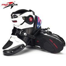 Профессиональная Байкерская обувь из микрофибры для мотокросса; обувь для мотоциклетных гонок; Защитные ботильоны; нескользящая мотоциклетная обувь