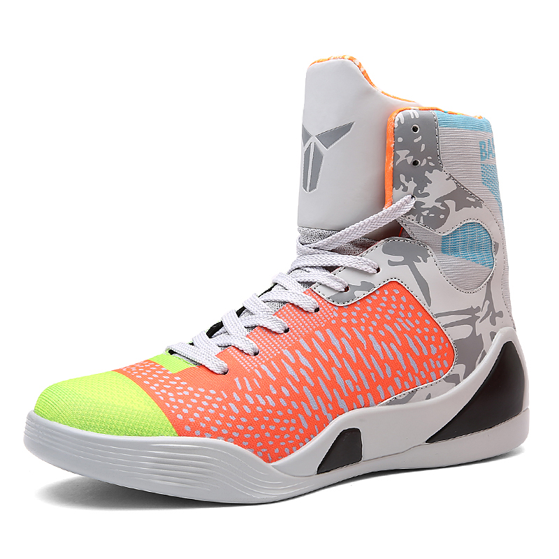 Indoor Sport Shoes Green Black Basketball Shoes For Men Super Light  Basketball Sneakers Cheap High Tops For Basketball-in Basketball Shoes from  Sports ... 95897e533