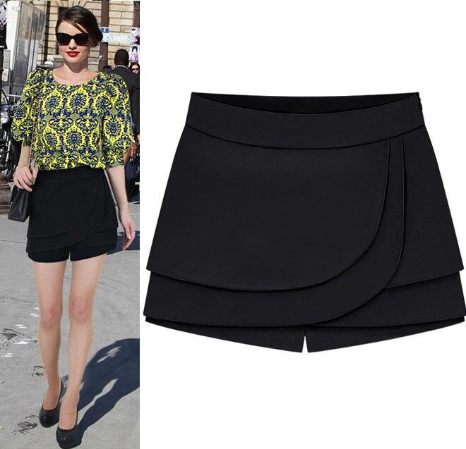 2014 fashion summer hot chiffon straight casual shorts for